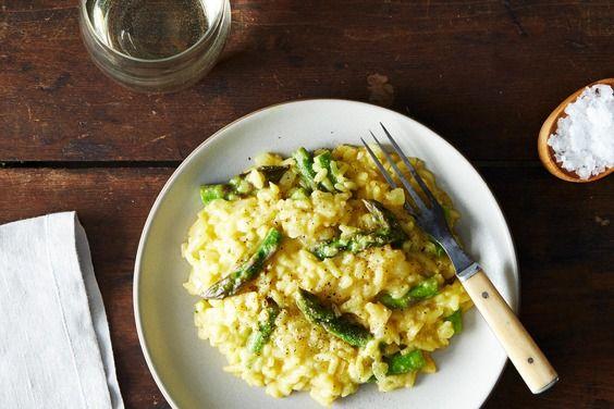 Vegan Lemon Asparagus Risotto   Recipe