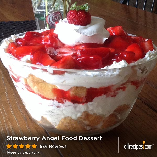 Strawberry Angel Food Dessert | A ready-made cake is the secret to ...