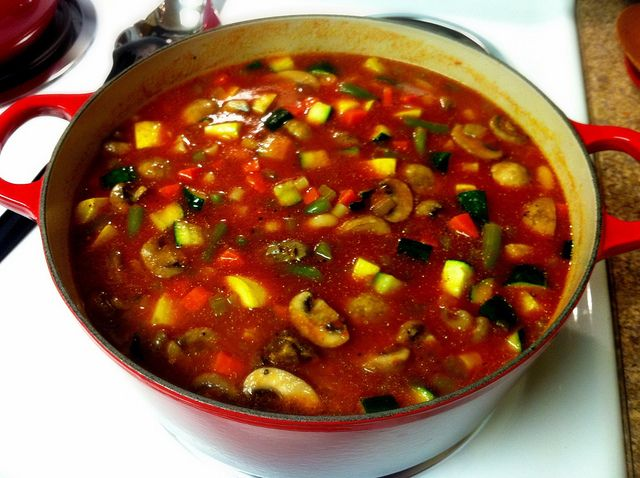 Roasted Vegetable Minestrone | cooking with shan | Pinterest