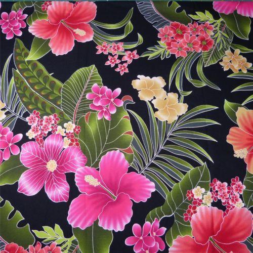 Hawaiian Print Cotton Fabric by Trendtex Kokio, & Melia on ...