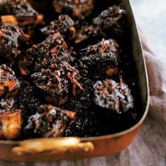 Luscious Oven-Braised Short Ribs Recipe from D'Artagnan.
