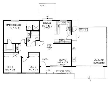 3 bedroom 2 bath ranch 1 192 sq ft floor plans for 3 bedroom 2 bath ranch floor plans