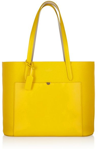 SMYTHSON Panama textured-leather tote