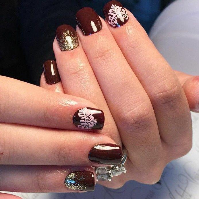 Дизайн ногтей кружево гель лаком