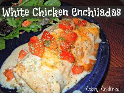 White Chicken Enchiladas | Dinners | Pinterest