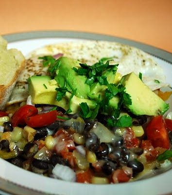 Southwestern egg and black bean skillet | Breakfast food and muffins ...
