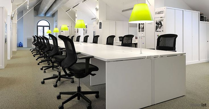 Pin by spaceist on office desks pinterest - Extra long office desk ...