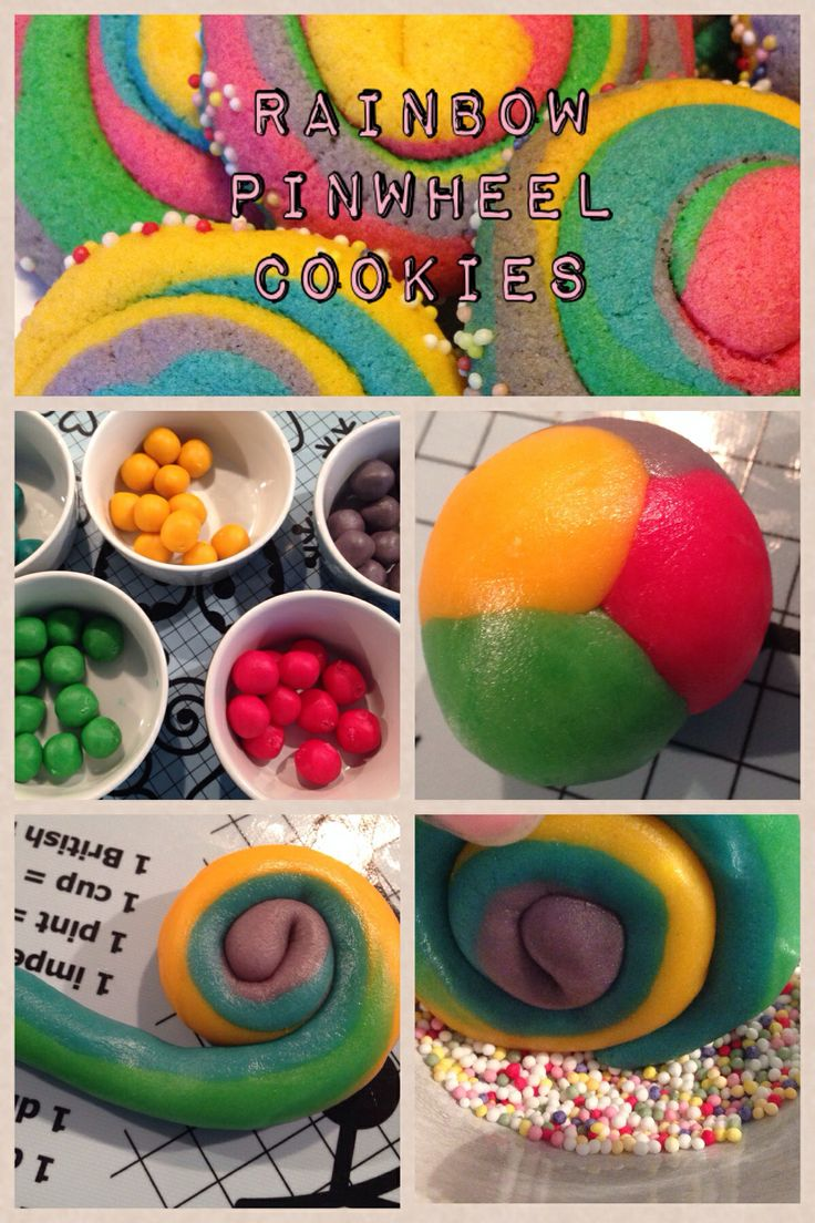Rainbow pinwheel cookies | Rainbows & Unicorns | Pinterest