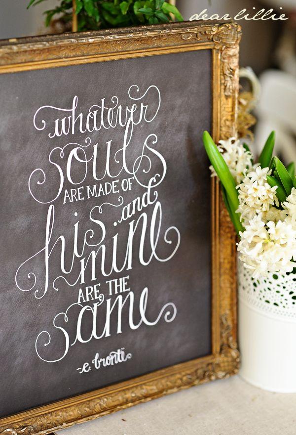 Dear Lillie — Whatever Souls 11x14 Chalkboard Print
