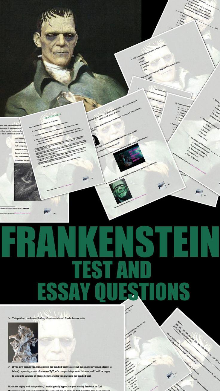 essay questions on frankenstein