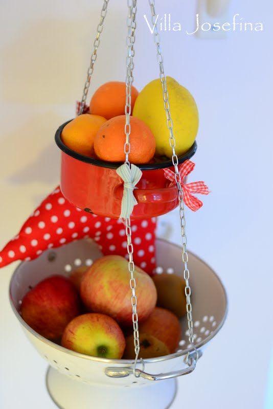 Handmade Hanging Fruit Basket : Diy hanging fruit basket kitchen