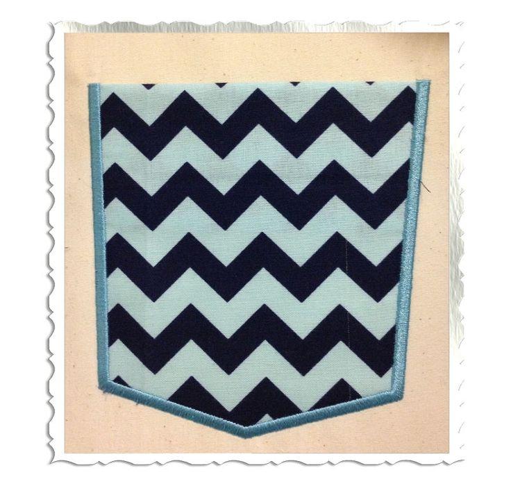 Applique Pocket Machine Embroidery Design - Rivermill Embroidery