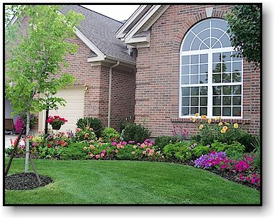 Midwest residential landscaping example for the home for Residential landscaping ideas