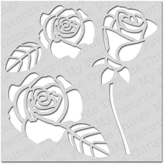 Как сделать трафарет розы