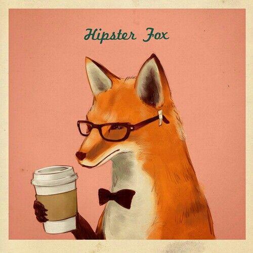 HIPSTER fox | Foxes | Pinterest - 35.5KB