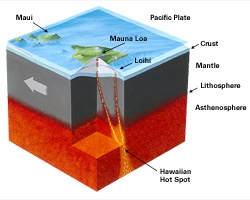 formation of the hawaiian islands The hawaiian islands formed as the pacific plate moved above the hawaiian hot spot.