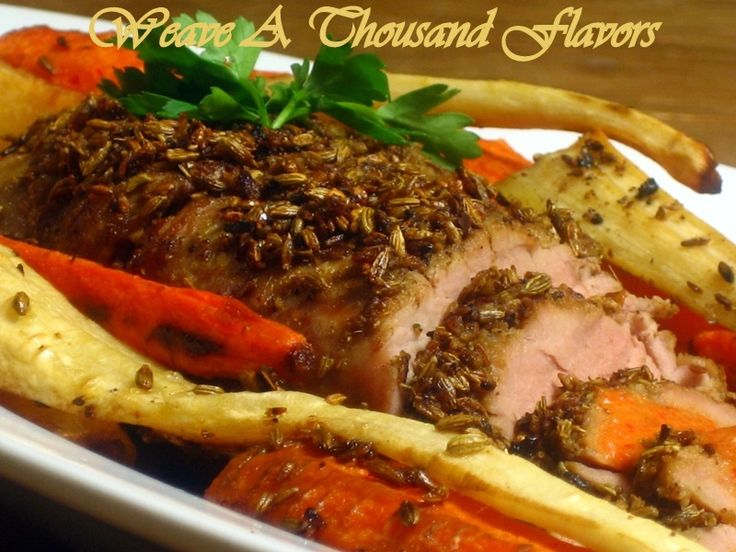 ... with chilli and orange spice crusted roast pork herb roasted pork loin