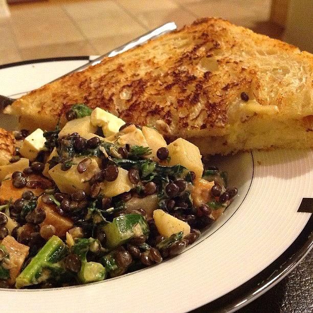 Lentil and Kale Veggie Salad Recipe by Terry Majamaki - Healthy ...