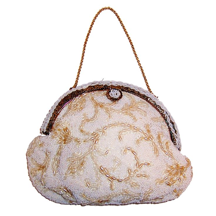 Ornate little purses with beaded and delicate chain straps