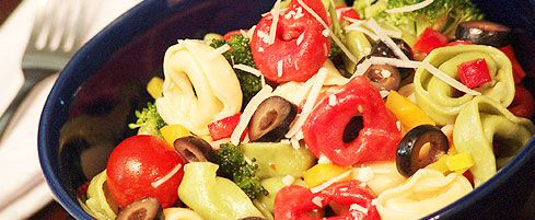 Zesty Italian Tortellini Salad recipe | Salads | Pinterest