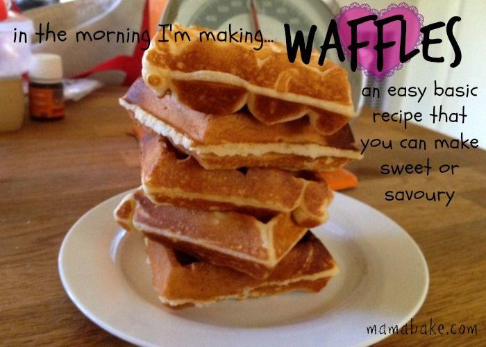 Easy waffles! | DIY Food Basics | Pinterest
