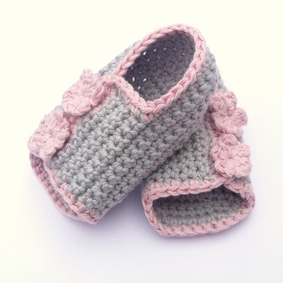 Crochet Baby Booties : Crochet PATTERN BABY Booties Button up Baby Peeptoe Sandals - INSTANT ...