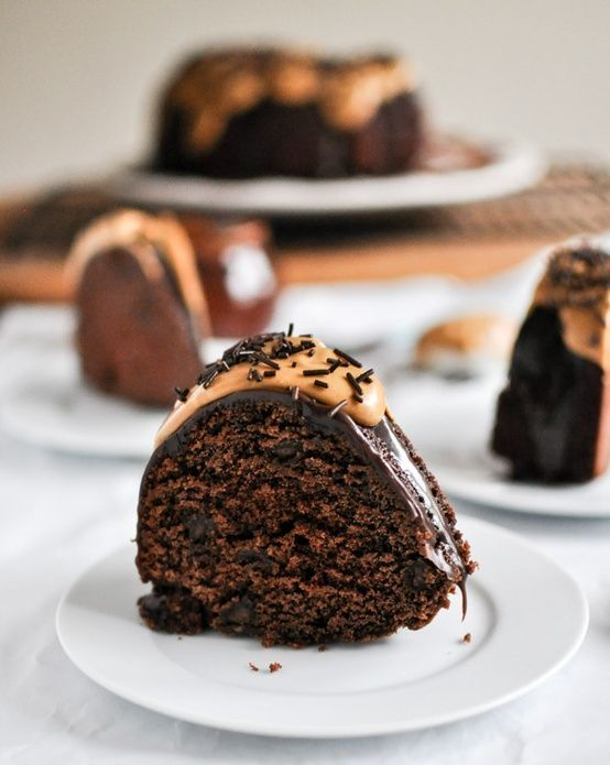 Chocolate Fudge Peanut Butter Cake | Food Recipe | Pinterest