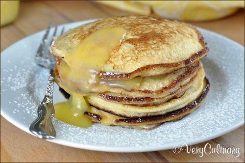 Ricotta Pancakes with Lemon Curd | Eat | Pinterest