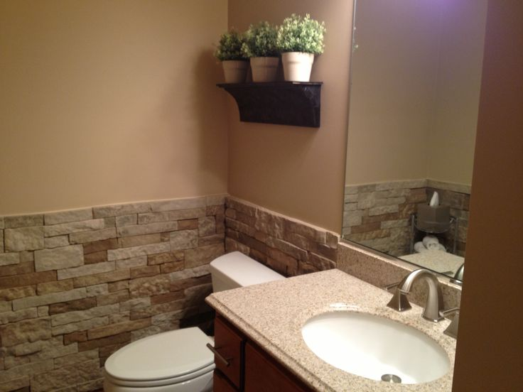 Airstone done in half bathroom bathroom pinterest