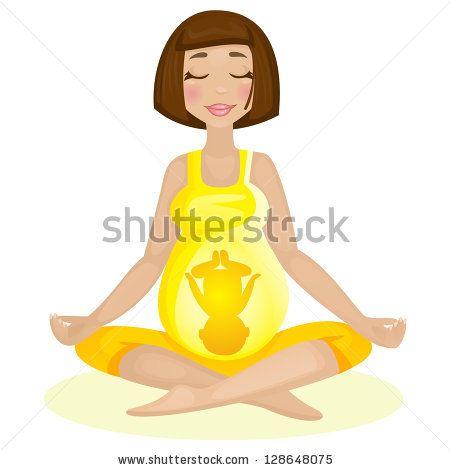 Pregnant yoga vector version stock vector