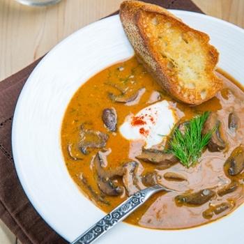 Hungarian Mushroom Soup | YumYum. | Pinterest