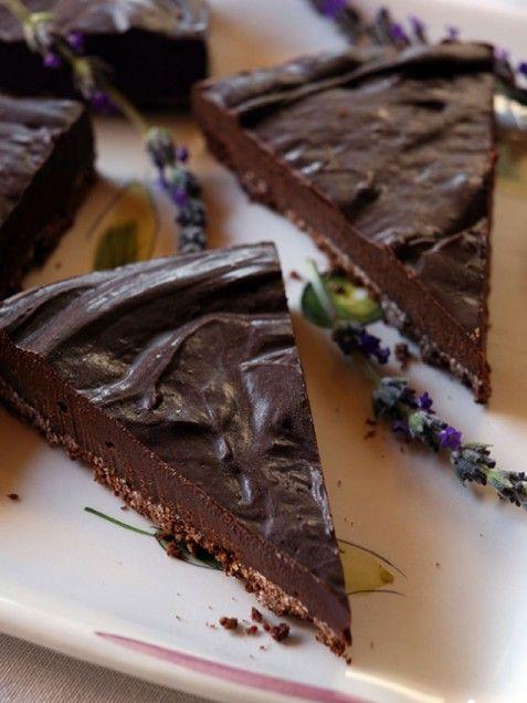 Chocolate Lavender Tart with Cocoa Matzoh Crust | Recipe