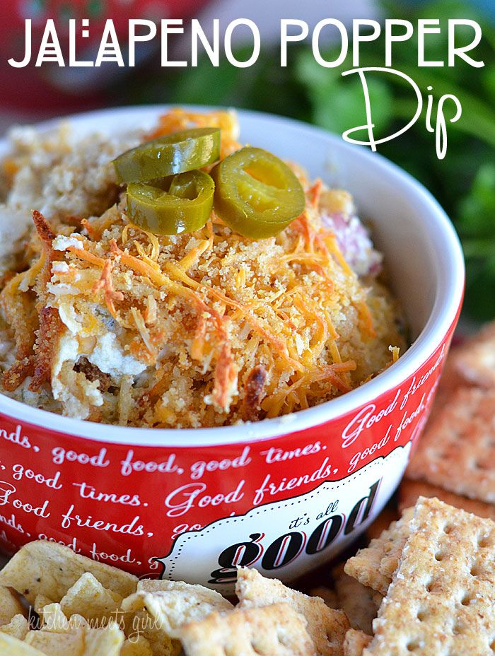 Jalapeno Popper dip - perfect for snacking or entertaining! #recipe # ...