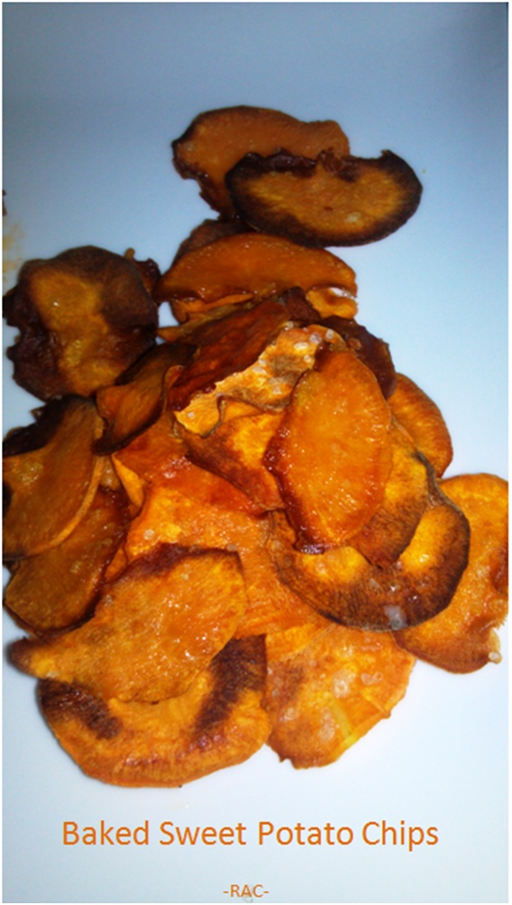 Rebecca's Amazing Creations: Baked Sweet Potato Chips