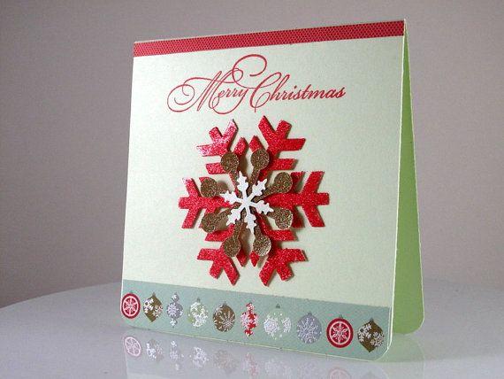 Handmade 3d unique christmas card for 3d xmas cards to make