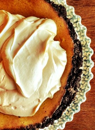 Double- Decker Pumpkin- Caramel Pie #recipe