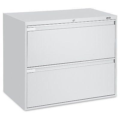 Unique Vertical File Cabinet  2 Drawer Light Gray H1914GR  Uline