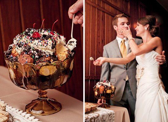 Ice Cream Sundae   40 alternative wedding cake ideas   Estate Weddings and Events