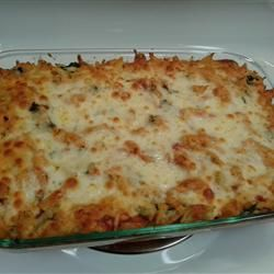 ... for protein! Cheryl's Spinach Cheesy Pasta Casserole Allrecipes.com