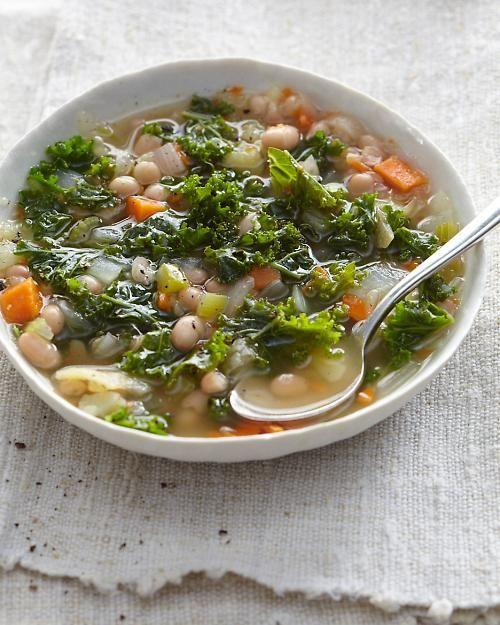 White bean, kale and potato stew