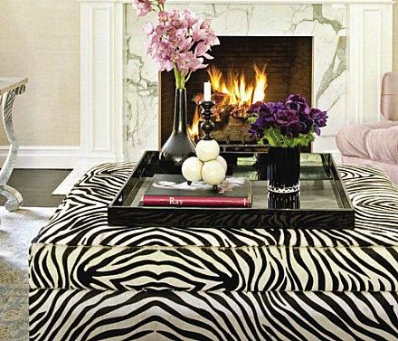 ideas for ottomans zebra ottoman decor perfect for a coffee table