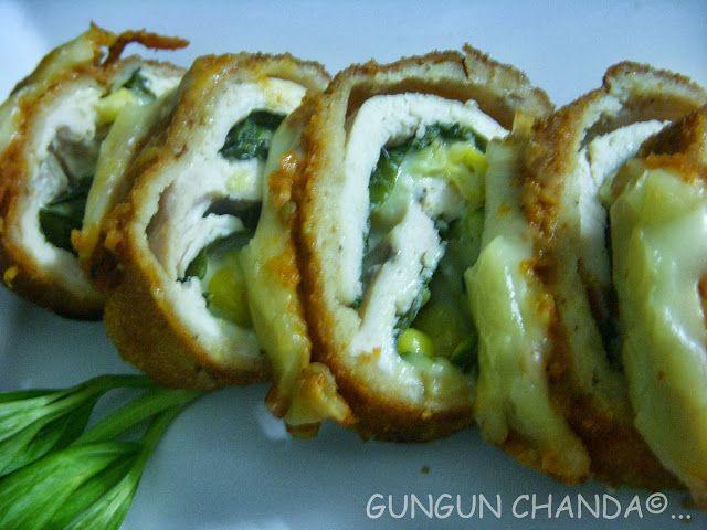 Chicken Rollatini Stuffed With Zucchini And Mozzarella Recipe ...