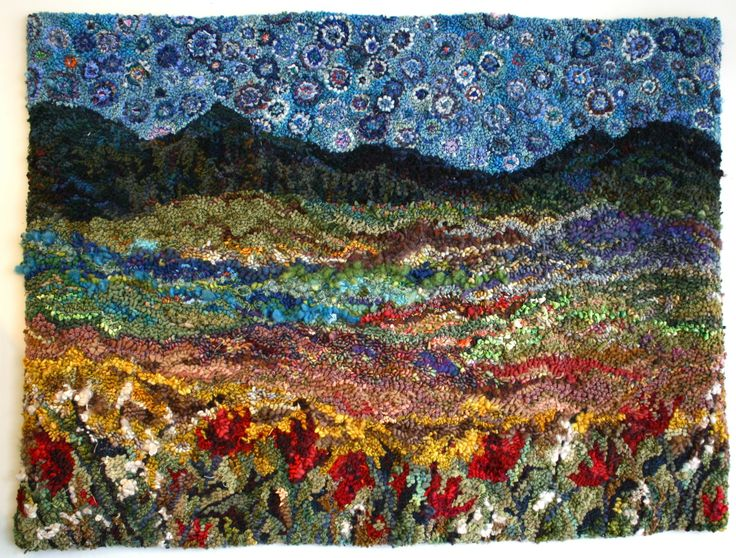 Beautiful Landscape Hooked Rug Projects Pinterest