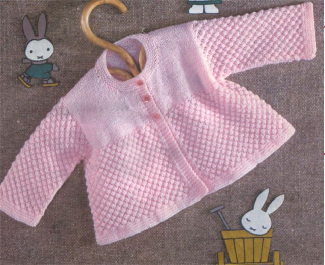 Gorgeous easy knit baby cardigan- knitting pattern- chest ...