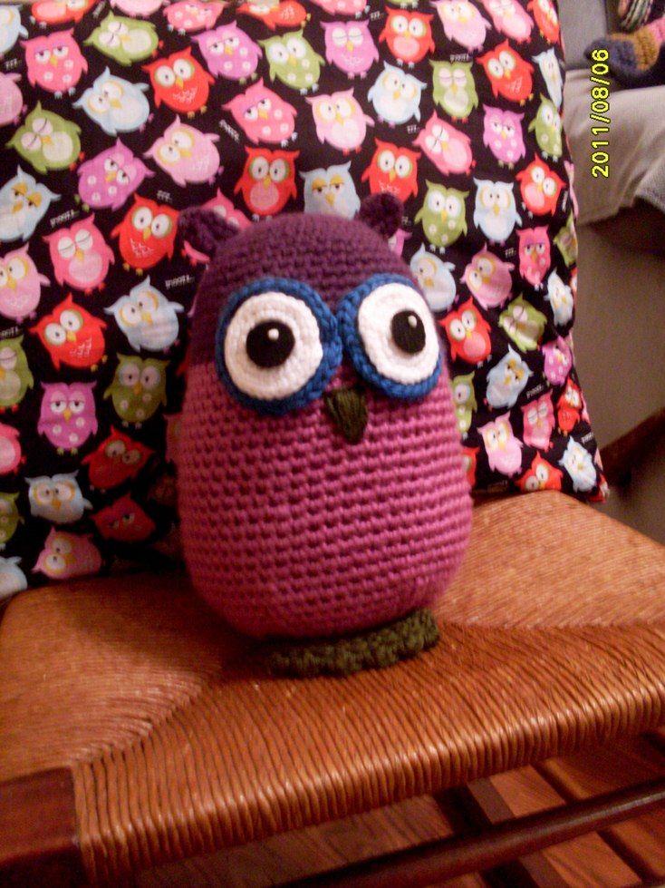 Free Owl Stuffed Cuddly Crochet Pattern : Eggy Owl! free pattern, Crochet owls Pinterest