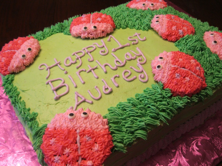Pink Lady Bug Cake | My Sweet Creations | Pinterest