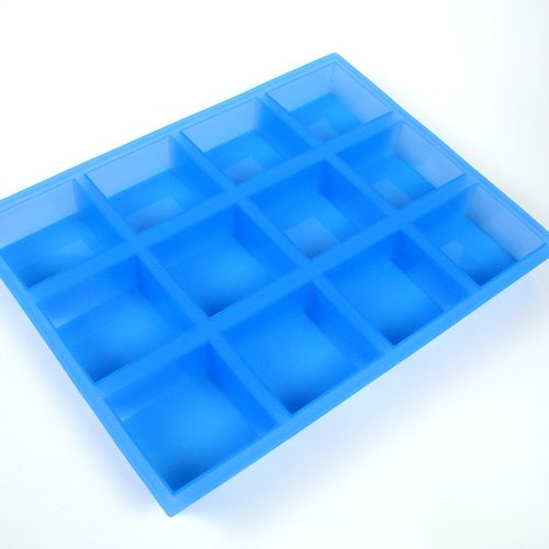 12 Bar Square Silicone Mold from Brambleberry... awesome  #soapmaking