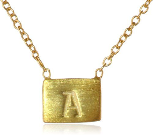 Adina reyter gold plated silver initial a necklace 17 quot adina reyter