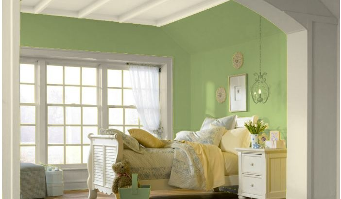 Lights For Green Wall : Color Scheme 4: Bedroom wall color. Love the light green! boudoir. Pinterest