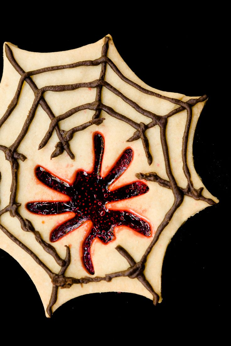 Spooky Spider Stained Glass Cookies for Halloween | Cupcake Project